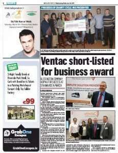 Ventac Getting Mentioned In Wicklow People