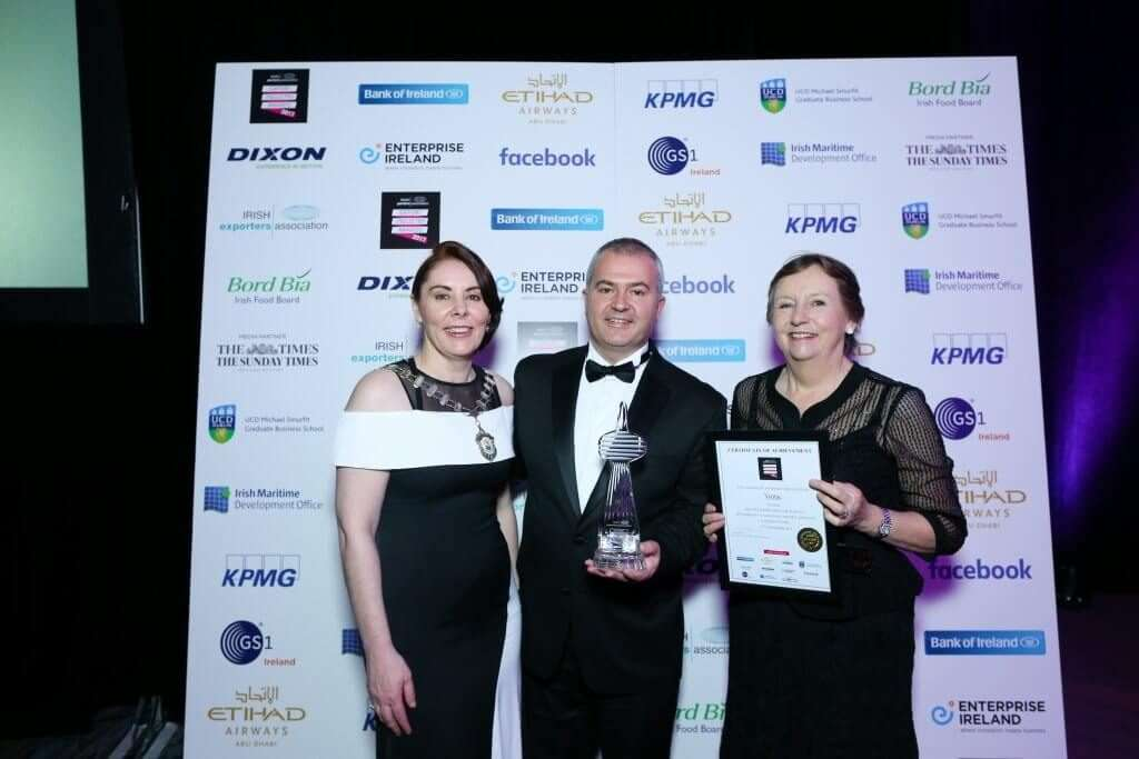 Ventac Services Exporter of the Year at Export Industry Awards, 2017