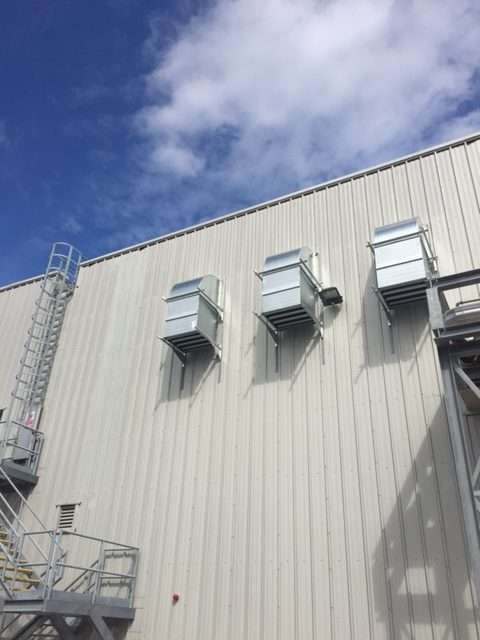Ventac factory exterior wall